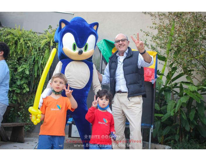 Sonic Personagem Vivo Para Festas e Eventos.