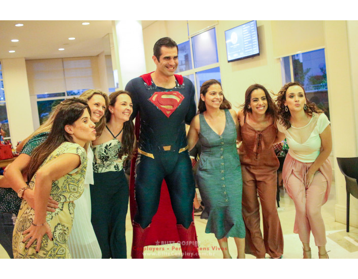 Superman personagem vivo para festas