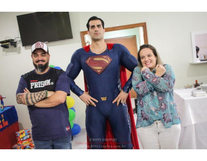 Super Homem Personagem Vivo Para Festas.