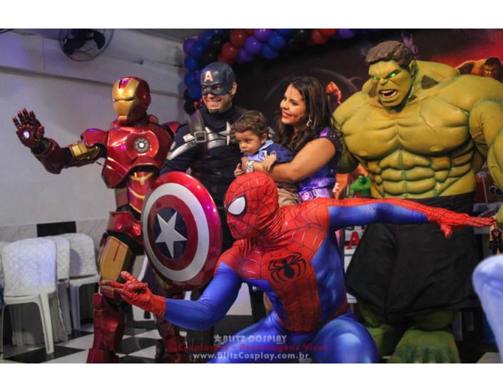 Os Vingadores Personagens Vivos Para Festas.