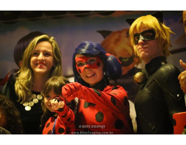 Personagens vivos Lady Bug para festas