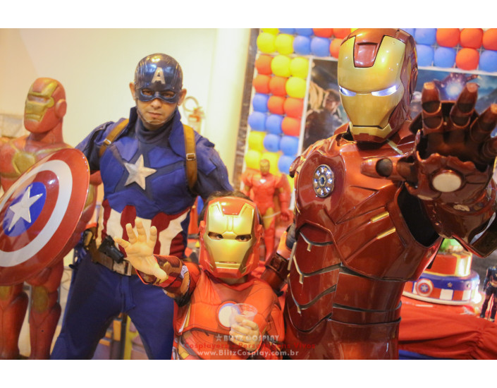 Homem de ferro personagem para festas