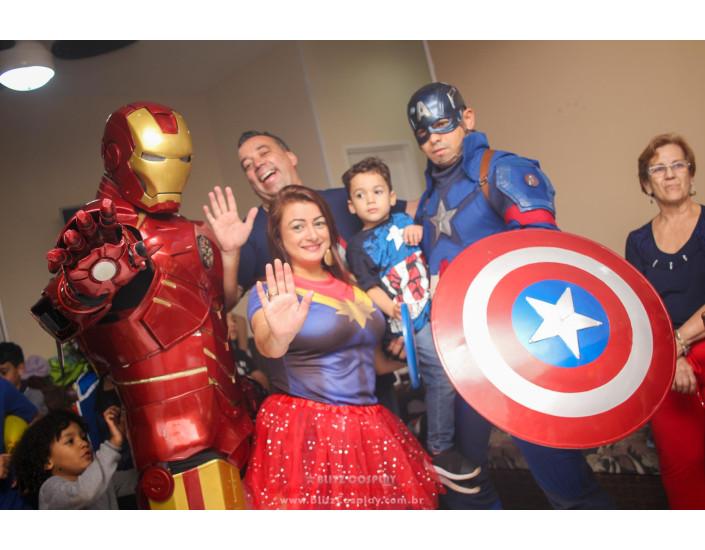Capitão America Personagem vivo para festas