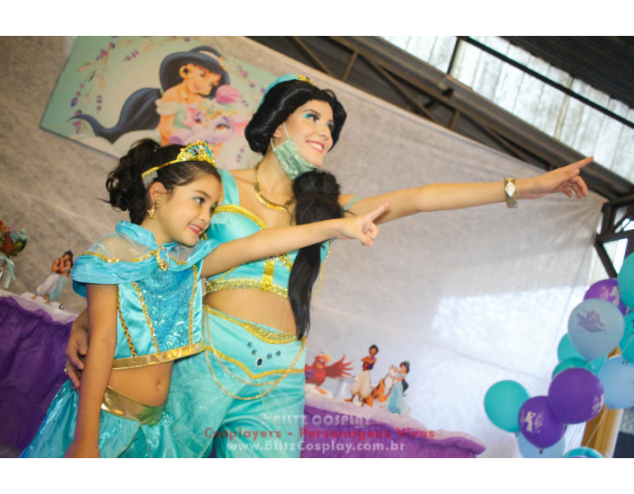 Jasmine Personagens Vivos para Festas e Eventos.