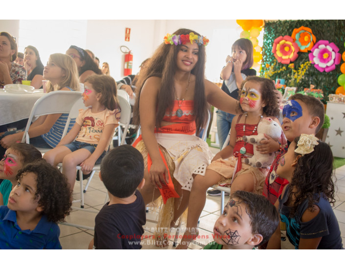 Moana personagem vivo para festas