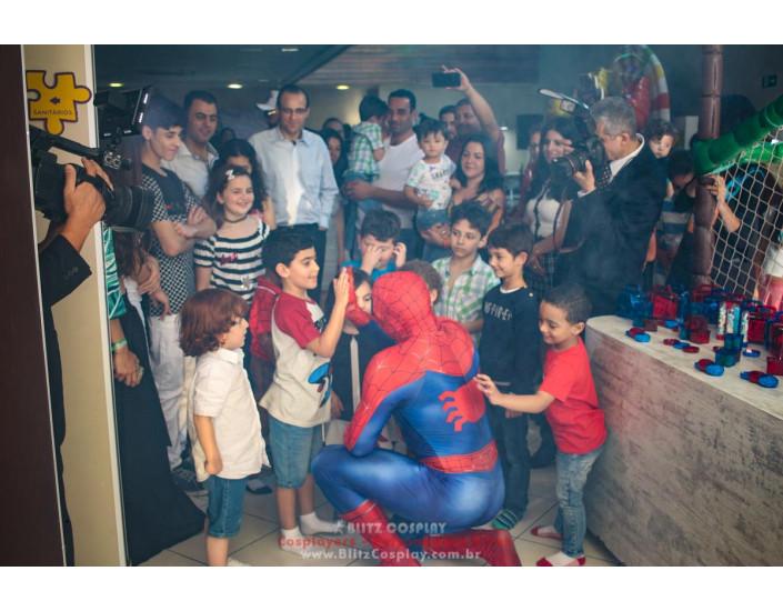 Homem Aranha Personagem Vivo Para Festas.