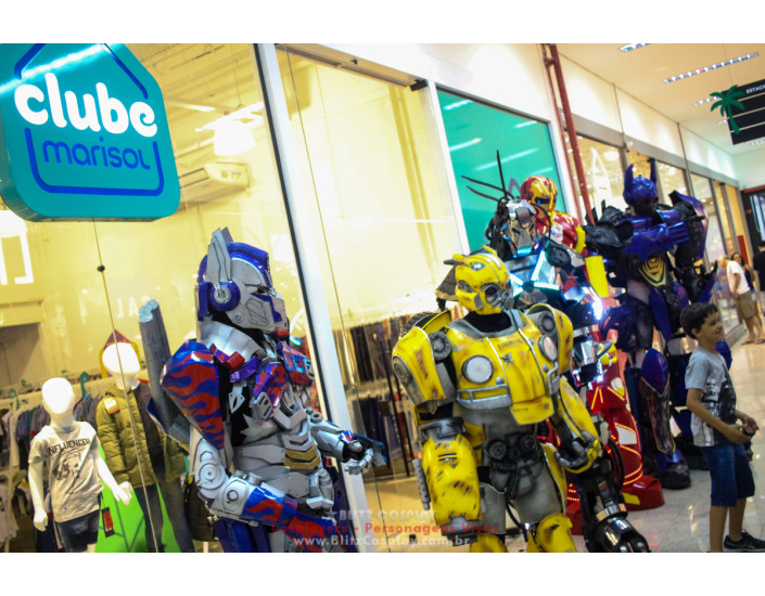 Transformers Personagens Vivos Para Festas.