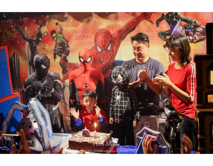 Homem Aranha personagem vivo festa