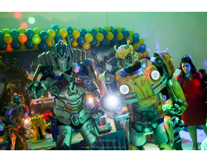 Transformers Personagem Vivo Para Festas.
