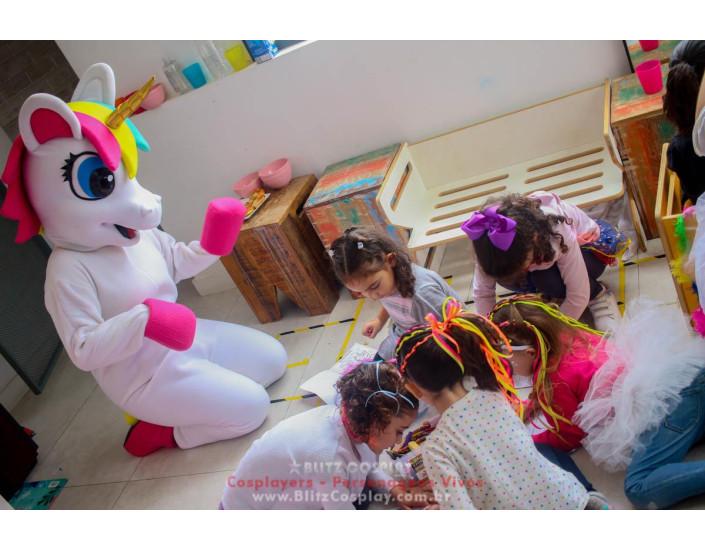 Unicornio Personagem Vivo Para Festas e Eventos.