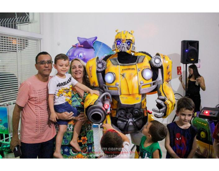 Bumblebee personagem vivo para festas