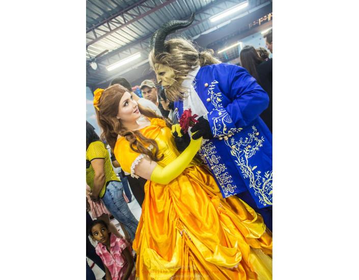 A Bela e a Fera Personagem Vivo Para Festas.