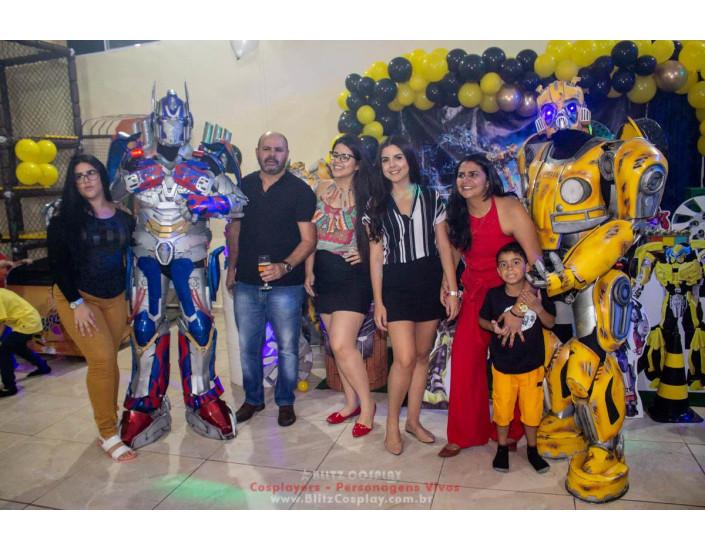 Transformers Personagens Vivos Para Festas.