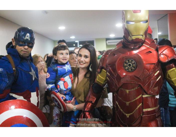 Personagem vivo Os Vingadores para festas