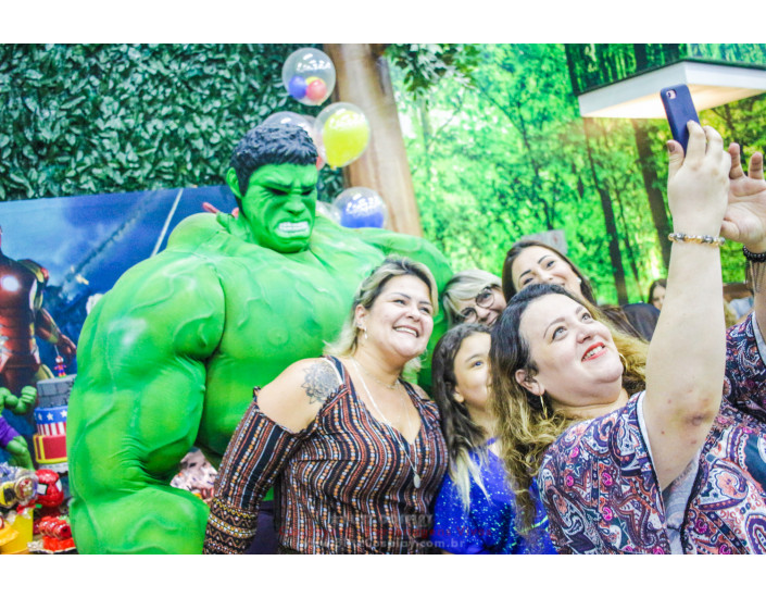 Hulk Personagem Vivo Para Festas