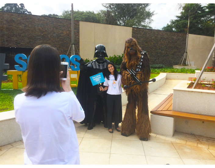 Star Wars personagem vivo para eventos