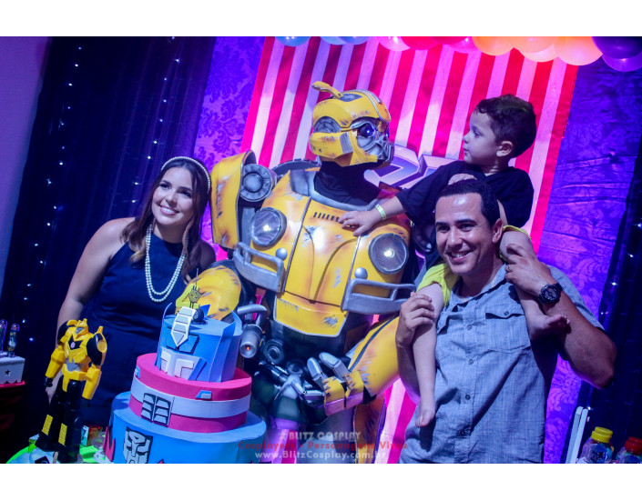Bumblebee personagem vivo festas