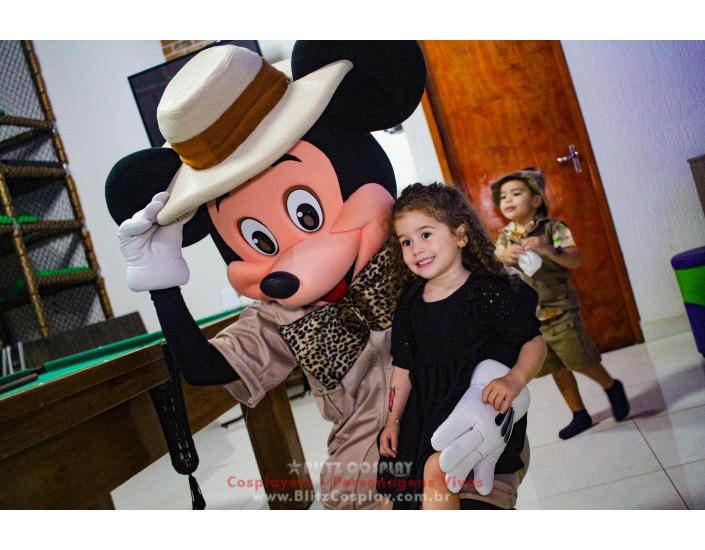 Mickey Safari Personagens Vivos Para Festas e Eventos.