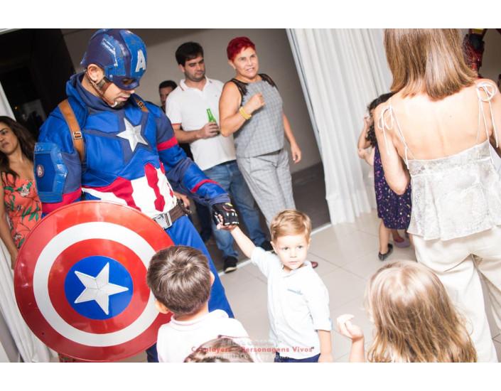 Capitão America Personagem vivo