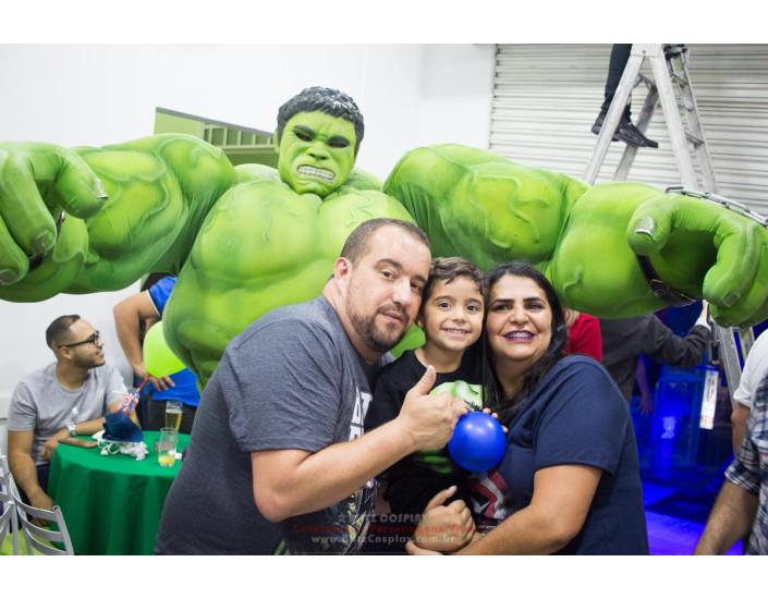 Personagem vivo Hulk para festas