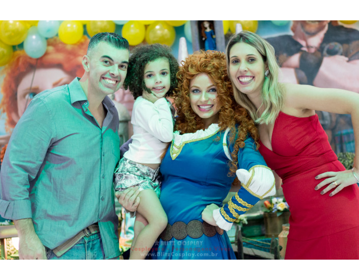 Princesa Merida Personagem Vivo Valente