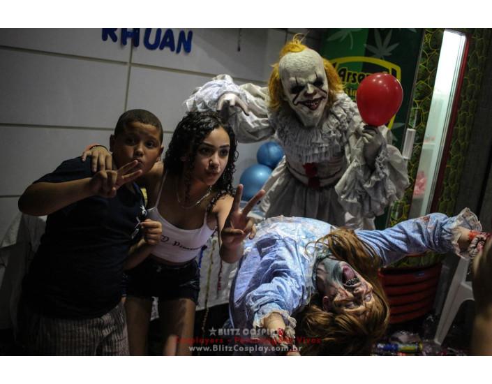It A Coisa e Exorcista Personagem Vivo Para Festas e Eventos.