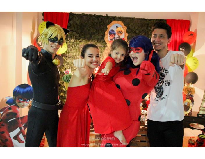Lady Bug personagens vivos para festas
