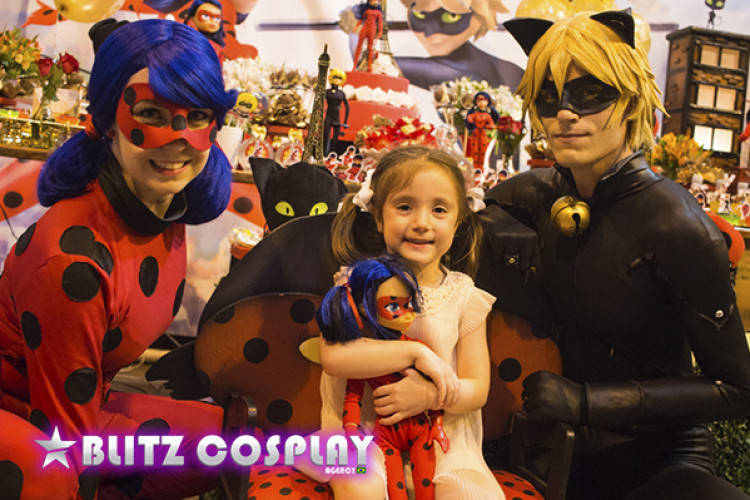 Ladybug personagem vivo - Blitz Cosplay